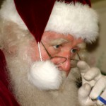 Santa Claus Looking Down