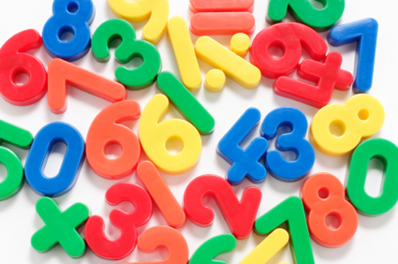 Close Up of Plastic Numbers