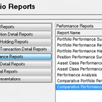 What do the columns mean on PortfolioCenter performance reports?