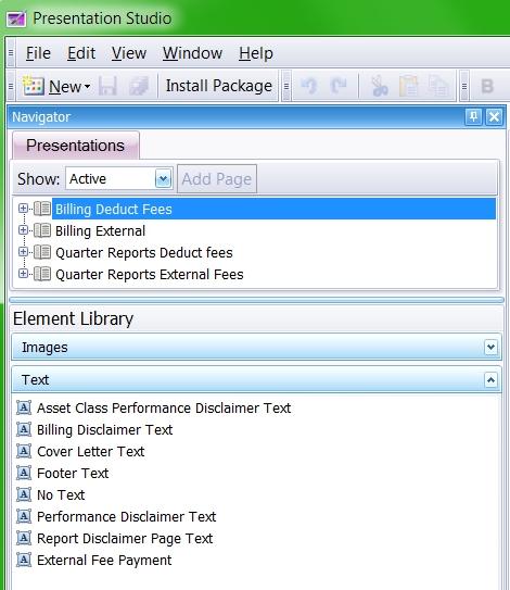 Presentation Studio Billing