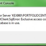 Restore Backup Error in PortfolioCenter Management Console